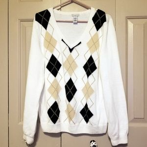 IZOD Argyle ladies golf sweater